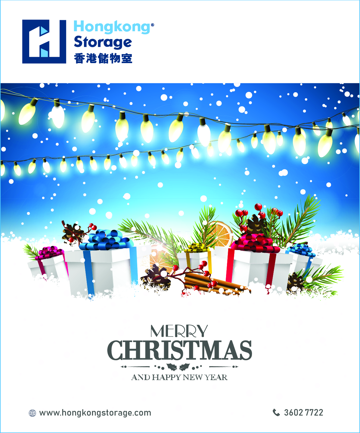 Hongkong Storage wish you Merry Christmas & Happy New Year!